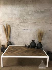 Maatwerk tafel wit visgraat (143364)