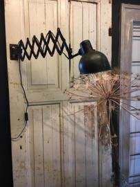 Oude originele schaarlamp ( 135795)..verkocht