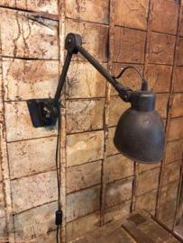 Oude ijzeren bureaulamp, wandlamp (138543) verkocht