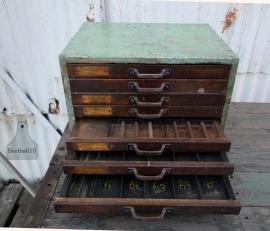 Industrieel ladekastje jaren 30 (130821) verkocht