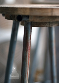 Industriële krukken oud hout (130419)