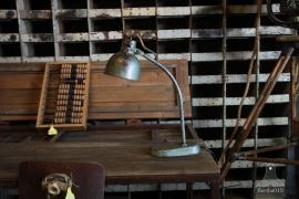 Geleefde industriële bureaulamp (132496)....verkocht