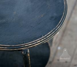 Vintage zwart tafeltje (130309)..verkocht