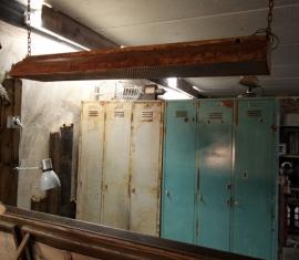 Grote industriële hanglamp (130926)..verkocht