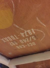 Tubax schoolstoel, wit onderstel (135408)..verkocht
