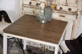 Industriële horecatafel op maat, oude boerderijbalken  (134552)