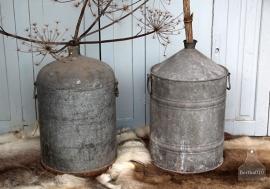 Oud ronde zinken vat (131694)..verkocht