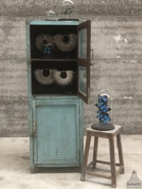 Geleefde kast turquoise (144475)