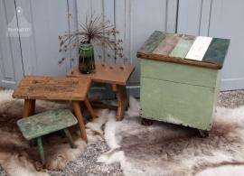 Sloophouten kist met klep (131301)..verkocht