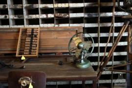 Geleefde ijzeren ventilator (132501)..verkocht