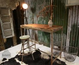 Hoge industriele tafel (130751)..verkocht