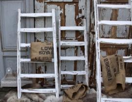 Brocante houten ladder (131379)..verkocht