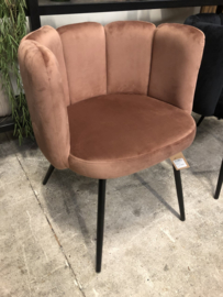 Fluwelen stoel koper, vast in assortiment (144785)