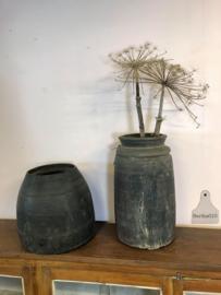 Originele houten waterpot, hoog (141927)