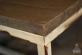 Op maat gemaakte industriële tafel, wit (132298)