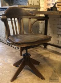 Antieke industriële bureaustoel (138832) verkocht