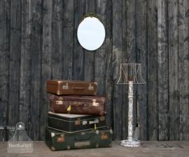 Turquoise geoxideerde spiegel (130447)..verkocht
