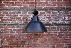 Oude fabriekslamp, zwart (131048) verkocht