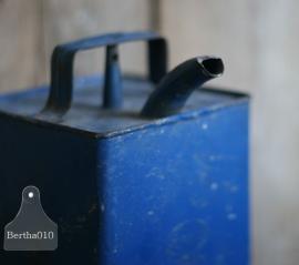 Oud blauw olieblik 1949 (130022)..verkocht