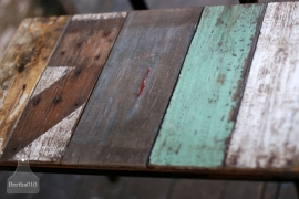 Industrieel tafeltje sloophout (130418)..verkocht