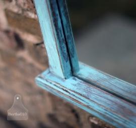 Turquoise spiegel (130378)..verkocht
