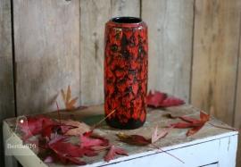 Vintage vaas rood gevlamd (130085) verkocht