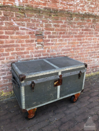 Oude koffer op wielen (138275) verkocht