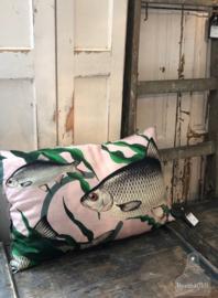 Kussen vissen roze (138195)