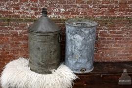 Oud zinken vat (131918)..verkocht