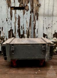 Oude kist grijs (139857)