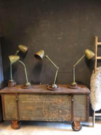 Mooi gepatineerde bureaulamp (136707)