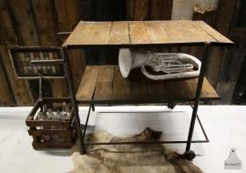 Antieke industriele loopkar (130684)..verkocht