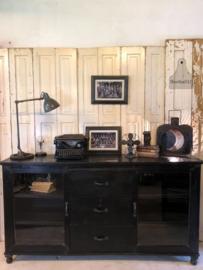 Oud houten dressoir zwart (141869) verkocht