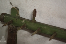 Antiek houten keukenrek (132389)