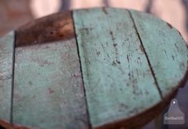 Industriele krukken turquoise (130411)..verkocht