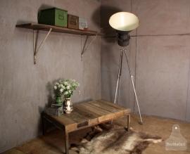 Grote salontafel met oude balken (131063)..verkocht