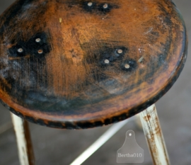 Industriele kruk zwart (130254)..verkocht
