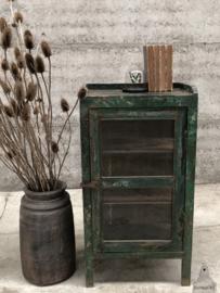 Geleefd kastje oud groen (144420)
