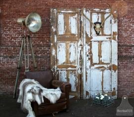 2 grote geleefde deuren (131280) verkocht
