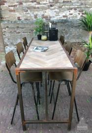 Visgraat hoge tafel