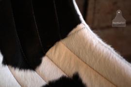 Koeienstoel met ijzer zwart onderstel (133104)