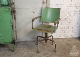 Authentieke industriële bureaustoel (134535)