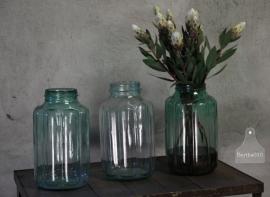 3 inmaakpotten van glas (132443, 132444, 132445)..verkocht