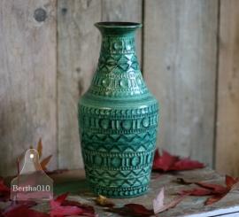 Vintage vaas turquoise (130086)..verkocht