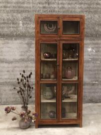 hoge oud Engelse vitrinekast (144047) verkocht