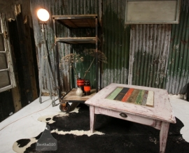 Grote salontafel met sloophout (130750)..verkocht