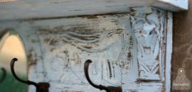 Antieke kapstok lichtblauw (130578)..verkocht