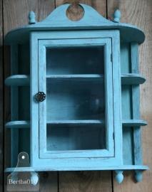 Oud hangkastje turquoise (130044).....verkocht