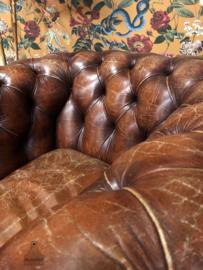 Lederen Chesterfield fauteuil (143723) verkocht