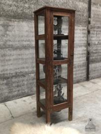 Vitrinekast met 4 kanten van glas (144520)